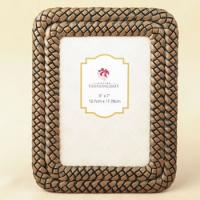 Double Braided Caramel Color 5 x 7 Frame