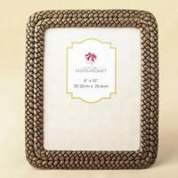 Double Braided Caramel Color 8 x 10 Frame