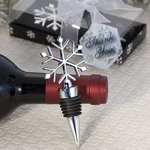 Winter Snowflake Chrome Bottle Stopper Favors