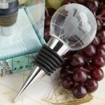 Glass Globe Travel Themed Favor Bottle Stoppers