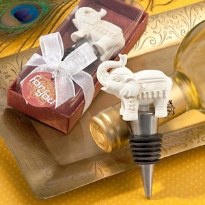 Elephant Bottle Stopper Favors image