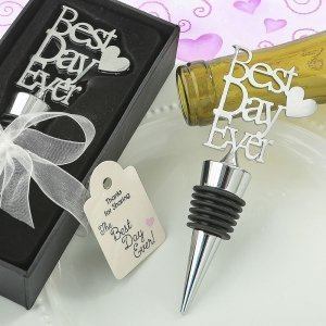 Metal Best Day Ever Bottle Stopper Favors image