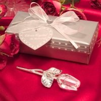 Crystal Long Stem Rose Wedding Favors