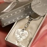 Crystal Heart Key Chain Wedding Party Favors