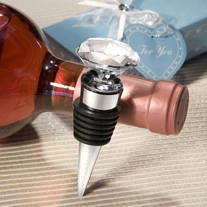 Crystal Diamond Wine Stopper Wedding Favors image