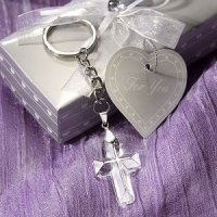 Choice Crystal Cross Keychain Favors
