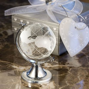 Crystal Globe Travel Themed Wedding Favors image