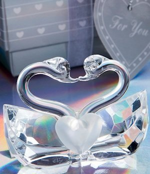 Choice Crystal Kissing Swans Figurine image
