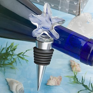 Choice Crystal Starfish Design Bottle Stopper image