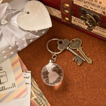 Choice Crystal Collection Crystal Glass Globe Key Chain image