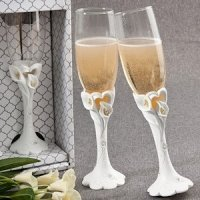 Calla Lily Design Wedding Toasting Flutes