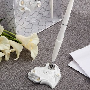 Calla Lily Design Wedding Pen Set image