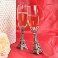 Eiffel Tower Wedding Toasting Flutes