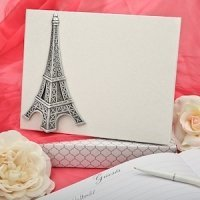 Eiffel Tower Wedding Guest Book