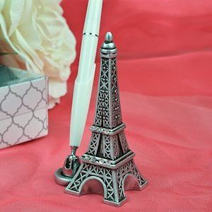 Eiffel Tower Wedding Pen Set image
