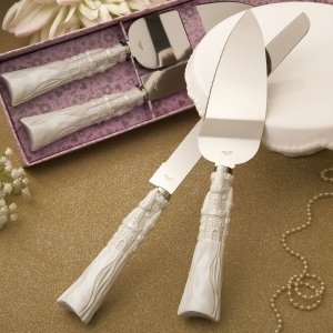 Fairytale Design Stainless Steel Cake Cutter and Knife Set image