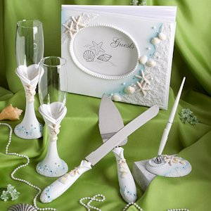 Shimmering Starfish Beach Wedding Accessory Set image