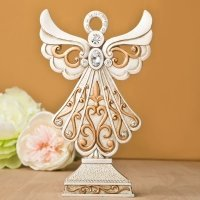 Magnificent Antique Design Angel Statue in Ivory and Matte G