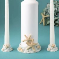 Beach Themed Unity Candle Set