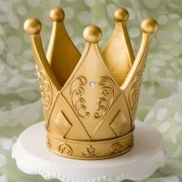 Ornate Crown Themed Gold Centerpiece