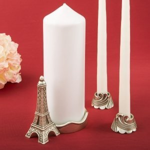 Paris Eiffel Tower Themed Unity Candle Set image