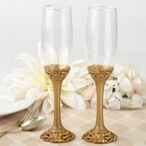 Gold Lattice Botanical Collection Flute Set image