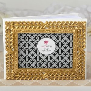 Gold Lattice Botanical Collection Guest Book image