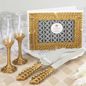Gold Lattice Botanical Collection Wedding Accessory Set image