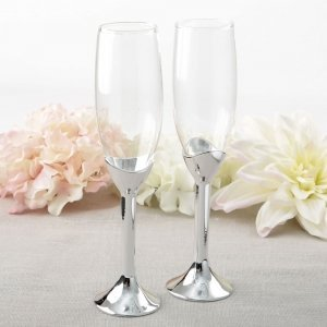 Simple Elegance Collection Classic Silver Stem Toasting Flut image