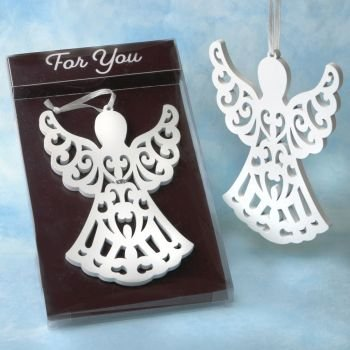 Heaven Sent Collection White Wood Angel Ornament image