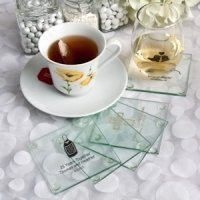 Personalized Special Occasion Glass Coasters