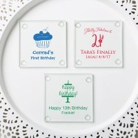 Personalized Birthday Design Stylish Coaster Favors