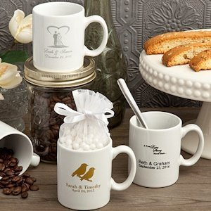Custom Printed Espresso Cup Wedding Favors (Many Designs) image