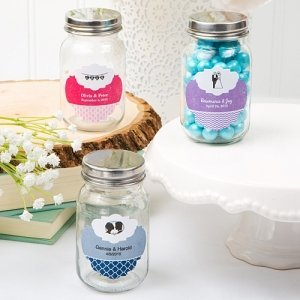 Customized Wedding Favor Glass Mason Jars image
