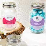 Customized Wedding Favor Glass Mason Jars