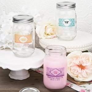 Vintage Glass Mason Jar Party Favors image