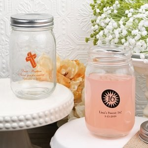 Special Occasion Personalized 16 Oz. Glass Mason Jar Favor image