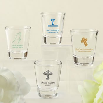DIY Screen Printed Religious Design Personalized Shot Glass image