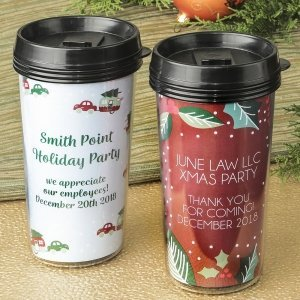 Double Wall Insulated Coffee Cup Favors image