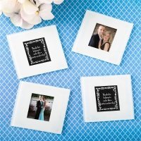Perfectly Plain Collection Glass Photo Coaster Favors