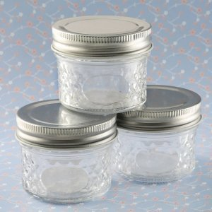 Perfectly Plain Collection Embossed Mason Jelly Jar Favors image