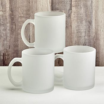 Perfectly plain collection frosted glass coffee mug image