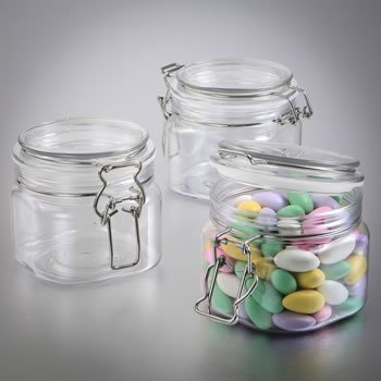 Perfectly Plain 16 oz. Large Acrylic Apothecary Jar Favor image