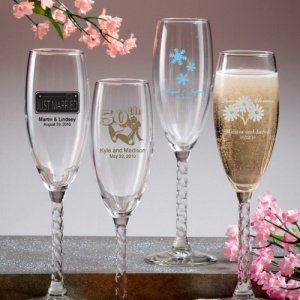 Personalized Anniversary Glass Flutes image