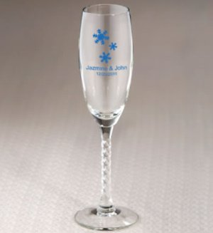 Personalized Winter Themed Champagne Flutes image