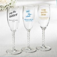 Personalized Celebrations Elegant Champagne Flute Favors