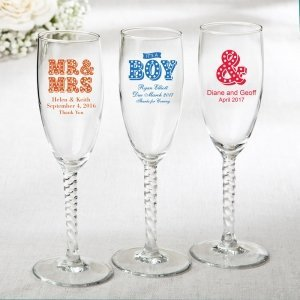 Personalized Marquee Design Elegant Champagne Flute Favors image