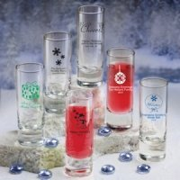 Personalized Shooter Glass - Holiday Designs