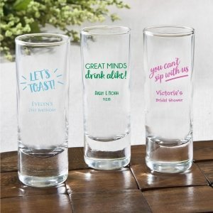 Personalized Celebration Design 2 oz Shooter Glasses image