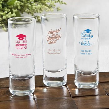 Personalized Graduation Design Fun 2 Oz Shooter Glasses image